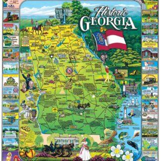 Historic Georgia - 1000 Piece Jigsaw Puzzle