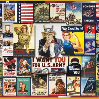 CharlesSimpson.com WWII Poster Collage - 1000 Piece Jigsaw Puzzle