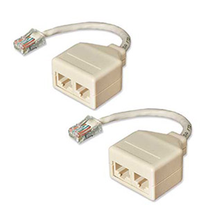 CharlesSimpson.com IC Intracom Network Pair Splitter 10BaseT Cat5, 2 Pack 68TA-C501-M2F