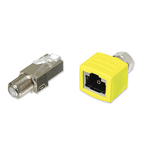 CharlesSimpson.com XMultiple Snap-in Coax Male to Female Combo Kit Yellow XRJAX 7101-Y