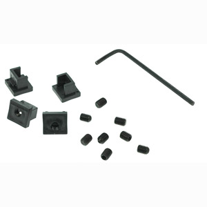 CharlesSimpson.com RJ Lockdown RJ45 Jack Locks, Black, 12 Locks RJ45JLOCKB-12
