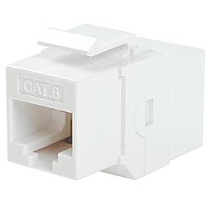 CharlesSimpson.com Ziotek CAT6 Inline Faceplate Coupler, White ZT1800583