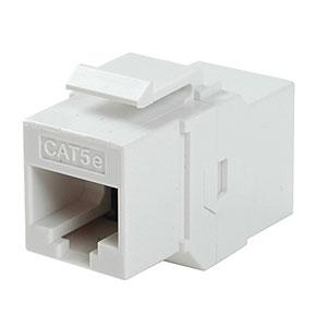 CharlesSimpson.com Ziotek CAT5e Inline Faceplate Coupler, White ZT1800584