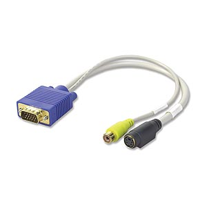 CharlesSimpson.com Ziotek Video Card to S-Video And TV Adapter Cable ZT1310615