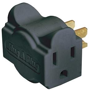 CharlesSimpson.com Ziotek Power Strip Liberator Hug-A-Plug, Black, 2 Pack ZT1120131