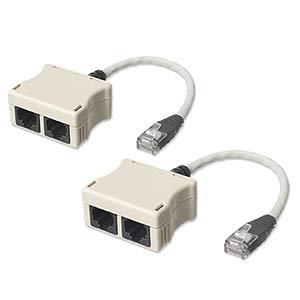 CharlesSimpson.com Network Pair Splitter 10/100, 2 Pack