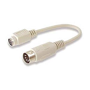 CharlesSimpson.com Ziotek 6in. Adapter PS2 Mini Din6 Female to Din5 Male Cable ZT1310410