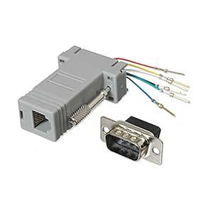 CharlesSimpson.com Ziotek Modular Adapter DB9 M to RJ11/RJ12 ZT1312010