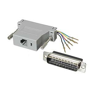 CharlesSimpson.com Ziotek Modular Adapter DB25 M to RJ11/RJ12 ZT1312030