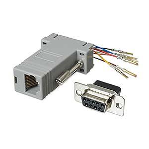 CharlesSimpson.com Ziotek Modular Adapter DB9 F to RJ45 ZT1312040