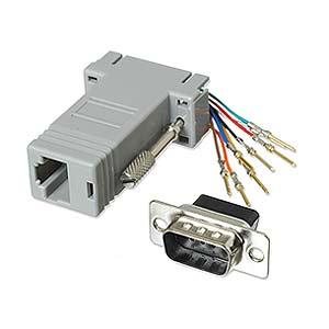 CharlesSimpson.com Ziotek Modular Adapter DB9 M to RJ45 ZT1312050
