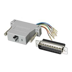 CharlesSimpson.com Ziotek Modular Adapter DB25 M to RJ45 ZT1312070