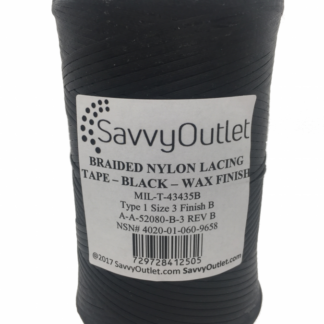 SavvyOutlet Black Waxed Lacing Tape 500 Yard Spool