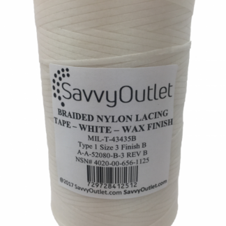 SavvyOutlet White/Natural Waxed Lacing Tape 500 Yard Spool