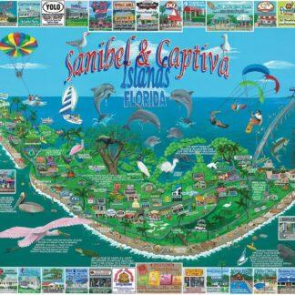 CharlesSimpson.com Sanibel & Captiva Islands - 1000 Piece Jigsaw Puzzle