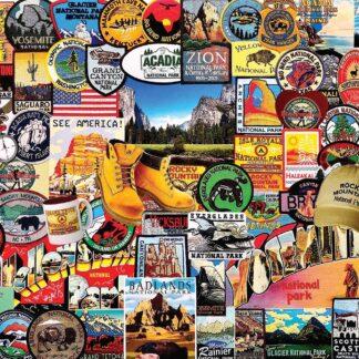 CharlesSimpson.com National Park Badges - 1000 Piece Jigsaw Puzzle