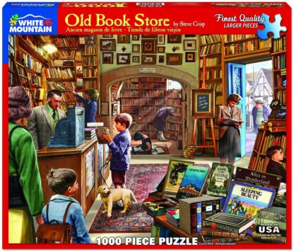 CharlesSiimpson.com Old Book Store - 1000 Piece Jigsaw Puzzle