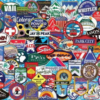 CharlesSimpson.com Ski Badges - 1000 Piece Jigsaw Puzzle