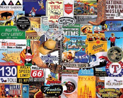 CharlesSimpson.com I Love Texas - 1000 Piece Jigsaw Puzzle