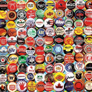 CharlesSimpson.com Beer Bottle Caps - 550 Piece Jigsaw Puzzle