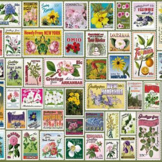 CharlesSimpson.com State Flower Stamps - 1000 Piece Jigsaw Puzzle