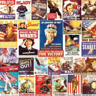 CharlesSimpson.com Vintage World War ll Posters - 550 Piece Jigsaw Puzzle