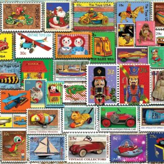 CharlesSimpson.com Christmas Toy Stamps - 1000 Piece Jigsaw Puzzle