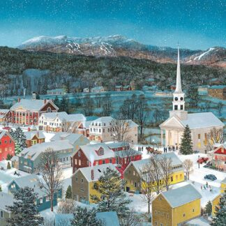 CharlesSimpson.com Winter Memories in Stowe Vermont - 1000 Piece Jigsaw Puzzle