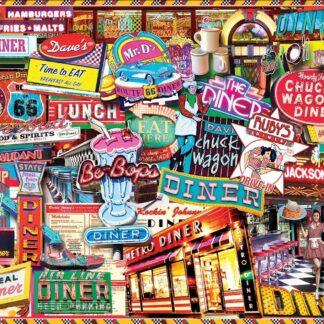 CharlesSimpson.com Retro Diner - 1000 Piece Jigsaw Puzzle