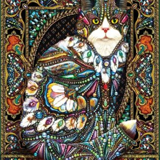 CharlesSimpson.com Jeweled Cat - 1000 Piece Jigsaw Puzzle