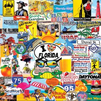 CharlesSimpson.com I Love Florida - 1000 Piece Jigsaw Puzzle