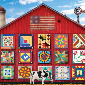 CharlesSimpson.com Barn Quilts - 1000 Piece Jigsaw Puzzle