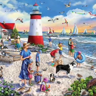 CharlesSimpson.com Lighthouse Beach - 550 Piece Jigsaw Puzzle