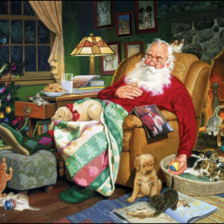 CharlesSimpson.com Santa's Naptime - 1000 Piece Jigsaw Puzzle