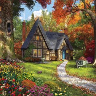 CharlesSimpson.com Autumn Cottage - 1000 Piece Jigsaw Puzzle