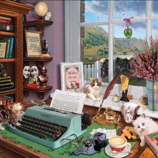 CharlesSimpson.com Writer's Desk - 1000 Piece Jigsaw Puzzle