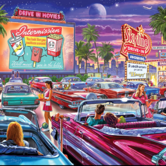 CharlesSimpson.com Drive-In Movie - 1000 Piece Jigsaw Puzzle