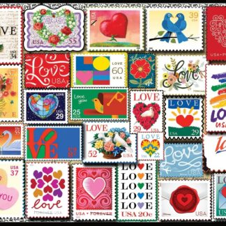 CharlesSimpson.com Love Stamps - 1000 Piece Jigsaw Puzzle