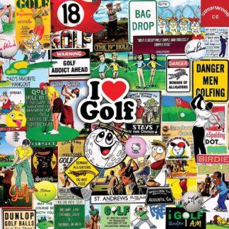 CharlesSimpson.com I Love Golf - 1000 Piece Jigsaw Puzzle