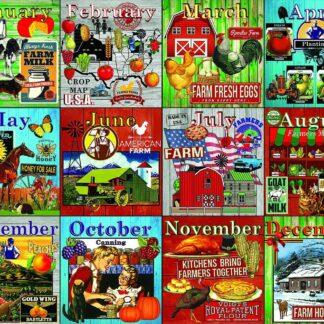 CharlesSimpson.com Farm Calendar - 1000 Piece Jigsaw Puzzle
