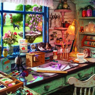 CharlesSimpson.com Mom's Craft Room - 1000 Piece Jigsaw Puzzle
