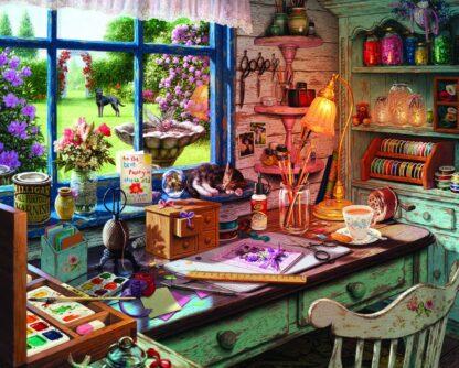 CharlesSimpson.com Mom's Craft Room - 1000 Piece Jigsaw Puzzle