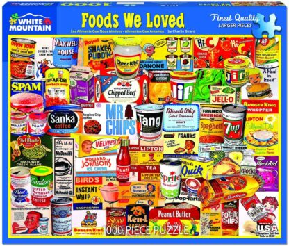 CharlesSimpson.com Foods We Loved - 1000 Piece Jigsaw Puzzle