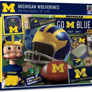 CharlesSimpson.com Michigan Wolverines Retro - 500 Piece Jigsaw Puzzle