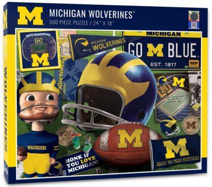 CharlesSimpson.com Michigan Wolverines Retro - 500 Piece Jigsaw Puzzle